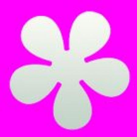 Stanzer Retro Blume, ca. 6,3 cm