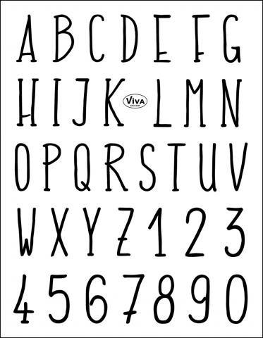 Viva Decor Silikonstempel, Alphabet modern
