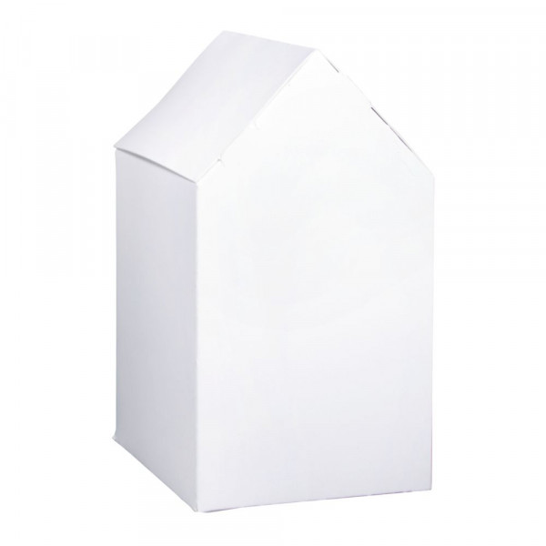 Faltschachtel Haus 10x7,5x20cm, Set 6 Stück, weiß