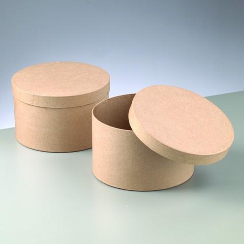 Box Rund aus Pappmaché, 16 x 9,5 cm