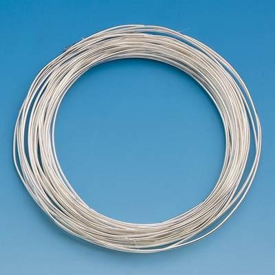 Silberdraht, 0,4 mm Ø - 20 m/Rolle