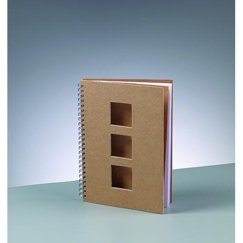Notizbuch Quadrat, aus Pappmachè, DIN A5