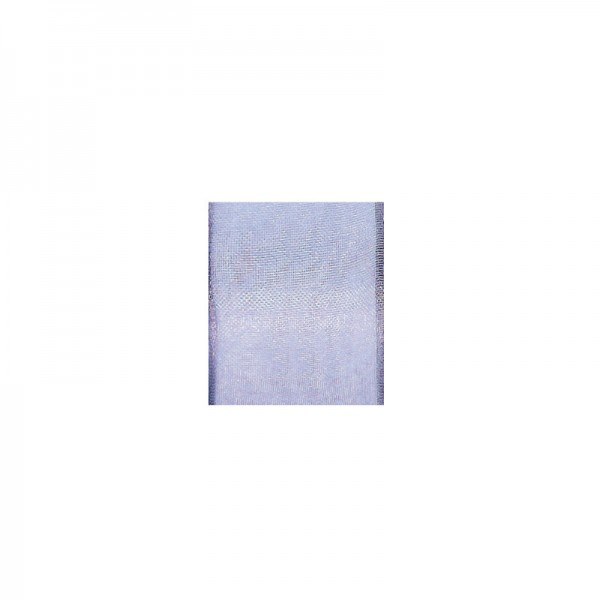 Chiffonband mit Drahtkante, 15mm breit, 5m lang - flieder