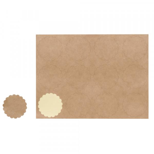 Sticker, 12 Stück, Ø 3,5 cm, kraft