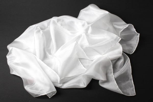 Seiden-Tuch, Pongè 05, naturweiß, 45 x 45 cm