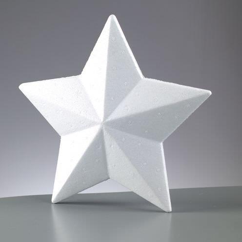 Weißer Styroporstern Ø 15 cm