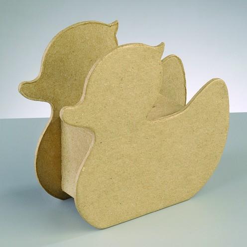 Spardose Ente, aus Pappmachè, 14,5 x 13 x 5,3 cm