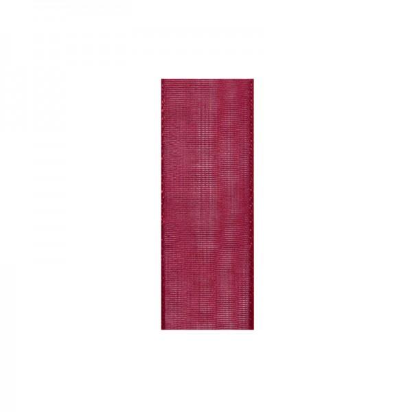 Chiffonband, 10mm breit, 10m lang - dunkelrot