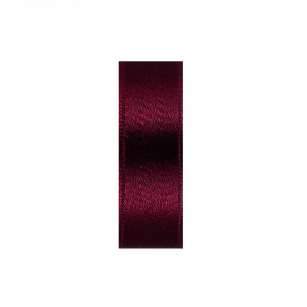 Satinband, doppelseitig, Länge 5 m, Breite 15 mm, dunkelrot