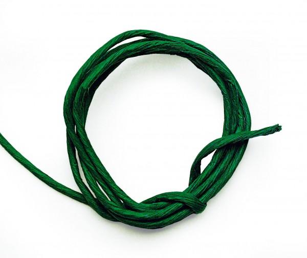 Papierkordel mit Drahtkern, 2 mm, 25 m, dunkelgrün