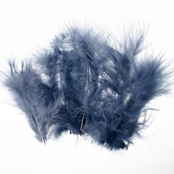 Marabufedern, ca. 10 cm, 20 St, grau