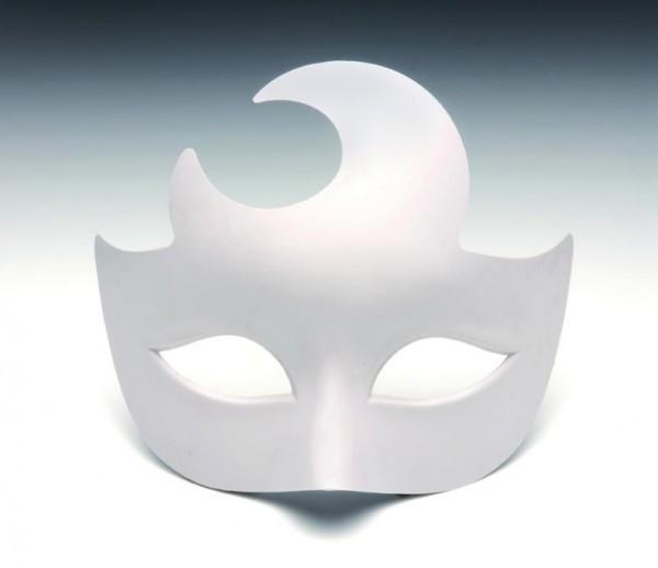 Maske Halbmond, aus Kunststoff, 17 x 14 cm