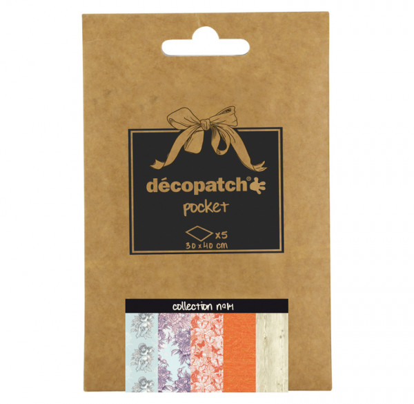 Decopatch Pocket Papier, 5er Sortiment, Collection No 14