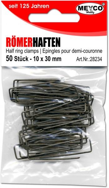 Römerhaften, 50 Stück, 10 x 30 mm