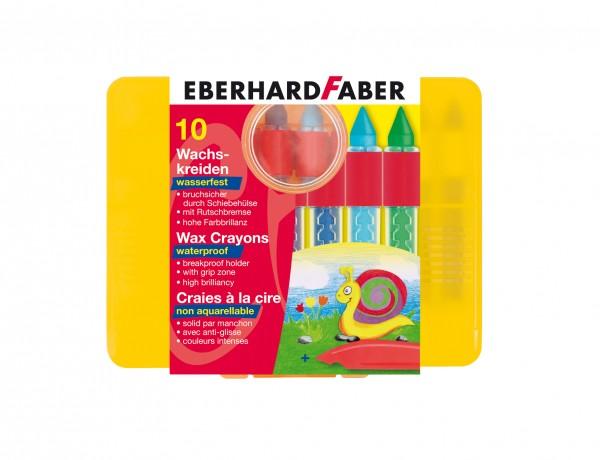 EBERHARD FABER Wachsmalkreide, 10 Farben, wasserfest