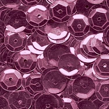 Pailletten, rund, gewölbt, 6 mm, 1400 St, altrosa-metallic