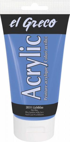 Acrylfarbe el Greco Acrylic, 150 ml - Lichtblau