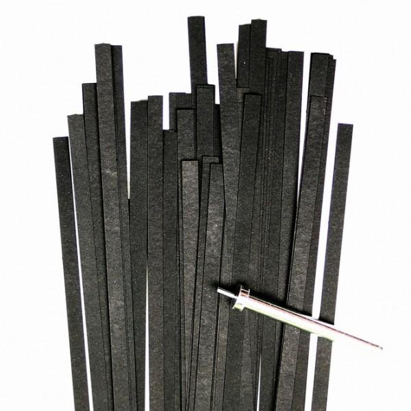 Quilling Papierstreifen, 5mm x 450mm, schwarz