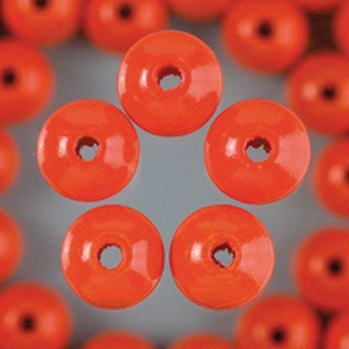 Holzperlen 6mm, 110 Stück - orange