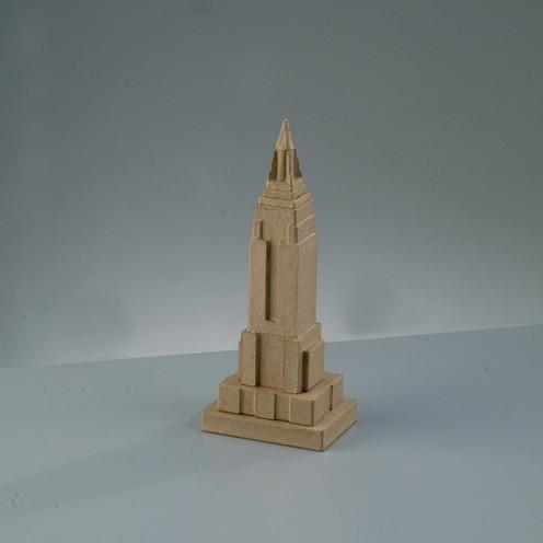 Empire State Building, klein, aus Pappmachè, 9,5 x 7 x 23,5 cm