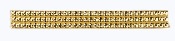 Wachsperlstreifen, 3mm, 20cm, 7 Stk., gold