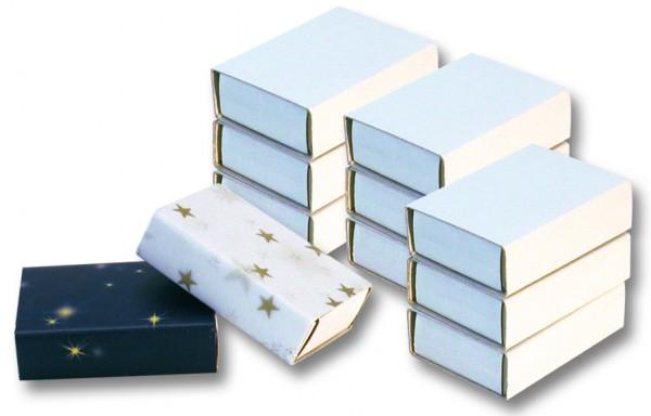 Blanko Streichholzschachteln, weiß, 5,3 x 3,8 x 1,5 cm, 10 Stück