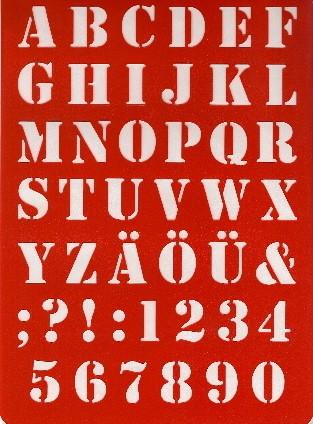 Buchstaben-Schablone ABC Saloonschrift
