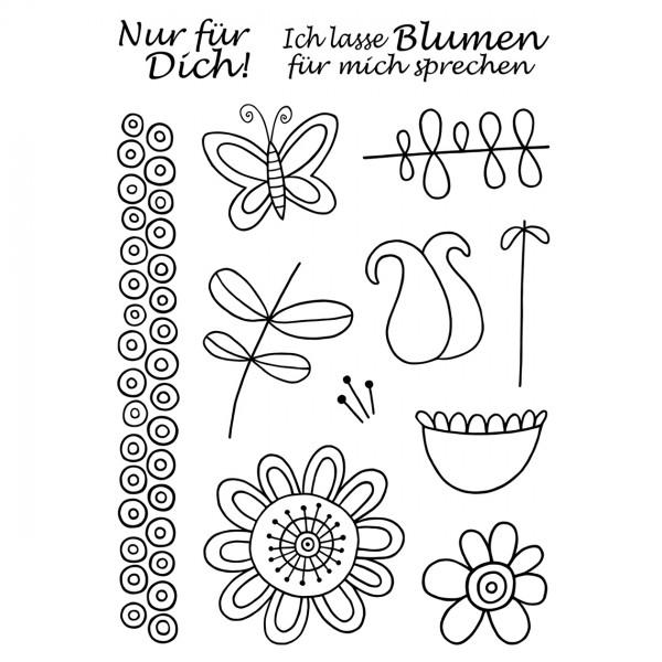 Clear Stamps - Blumen