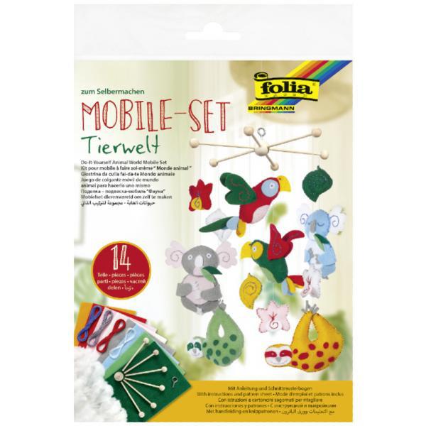 Tierwelt Mobile-Bastelset, 14 Teile