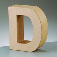 Buchstabe D, 10 x 3 cm, aus Pappmaché