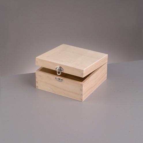 Holzkiste, 7,5x7,5x4 cm