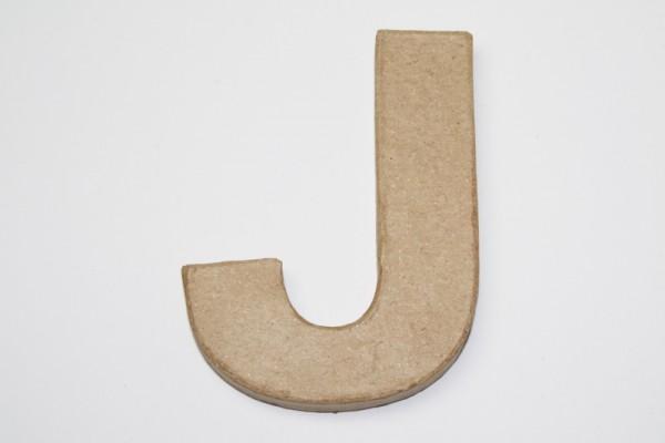 Buchstabe J, 10 x 1 cm, aus Pappmachè