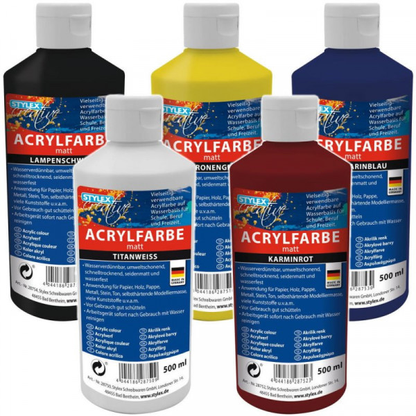 Toppoint Acrylfarbe, 500 ml - Set