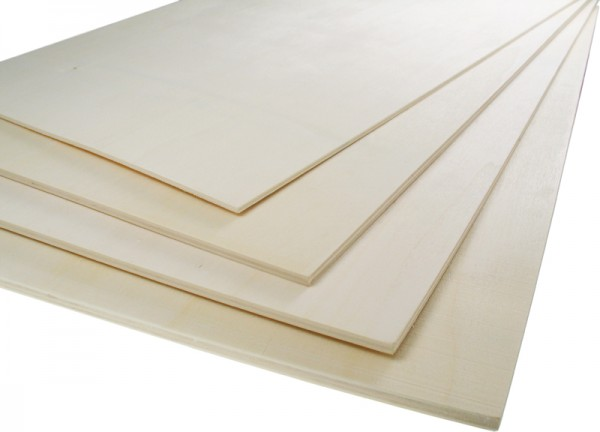 Sperrholzplatte, aus Birkenholz, 30 x 50 cm, 6 mm