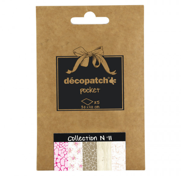 Decopatch Pocket Papier, 5er Sortiment, Collection No 11
