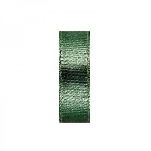 Satinband, doppelseitig, Länge 5 m, Breite 15 mm, moosgrün