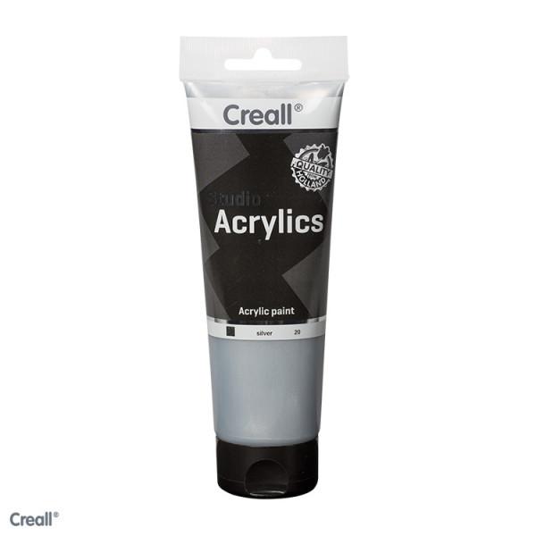 Creall-studio Acrylfarbe, 250 ml, Silber