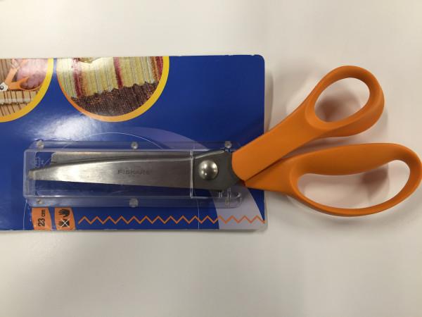 Fiscars Classic-Scheren orange, Zick-Zack Stoffschere, 23 cm, Sonderposten