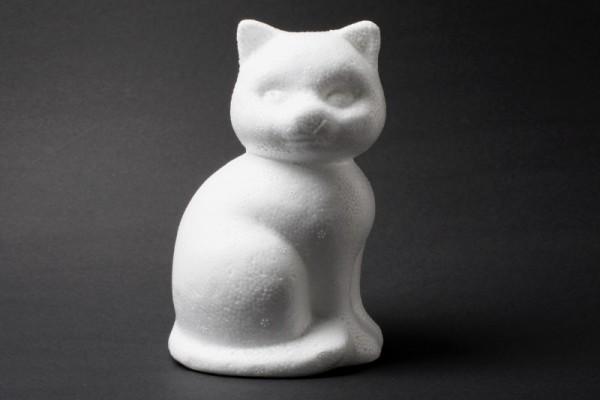 Styropor-Katze, 13 cm