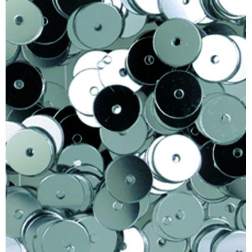Pailletten, rund, flach, 6 mm, 4000 St, silber