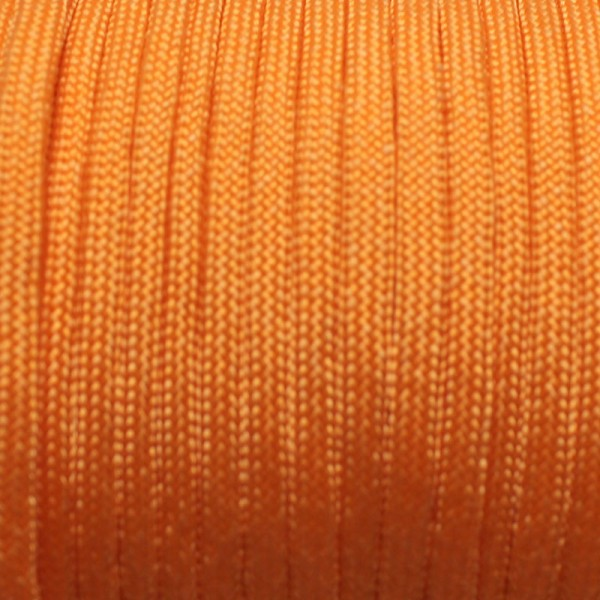 Paracord Knüpfgarn oval - Orange, 10 mtr.
