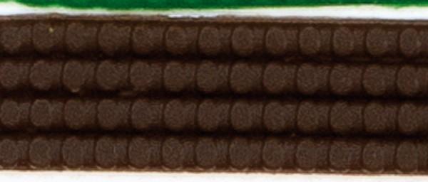 Wachsperlstreifen, 2mm, 20cm, 11 Stk., mocca