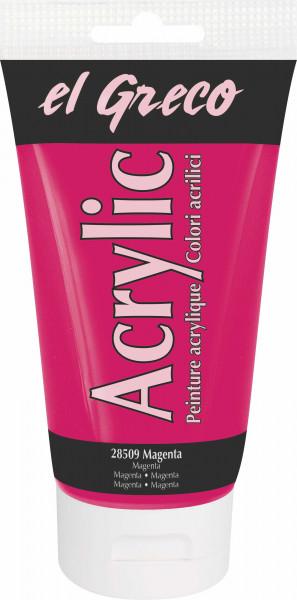 Acrylfarbe el Greco Acrylic, 150 ml - Magenta