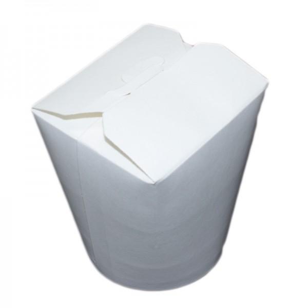 24 x runde Faltbox aus Pappe, weiß