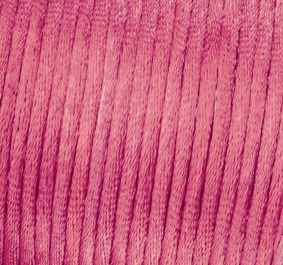 Satin Flechtkordel, Länge 6 m, Stärke 2 mm, pink
