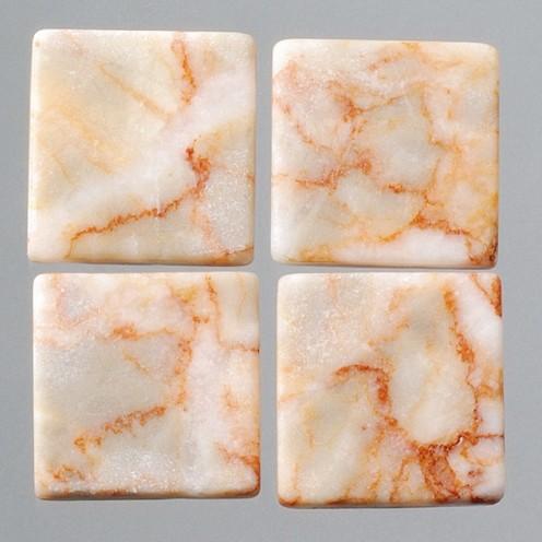 Efco Mosaik Echtstein pur, 10 x 10 mm, rot / weiß Marmor