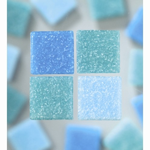 Efco Mosaik Glasstein pro, 20 x 20 mm, türkismix