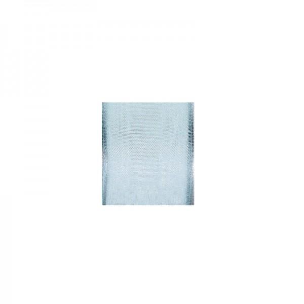Chiffonband mit Drahtkante, 15mm breit, 5m lang - hellblau