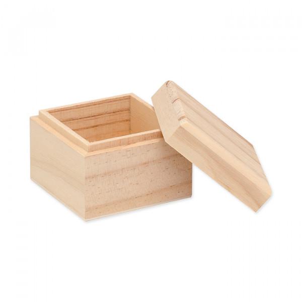 Holzbox, 9 x 9 cm, Höhe 7 cm