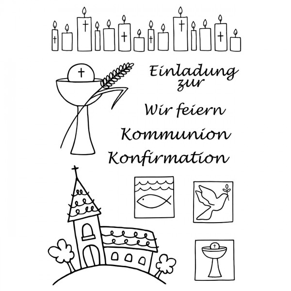 Clear Stamps - Kommunion / Konfirmation